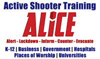 Active Shooter Training ALICE Alert Lockdown Inform Counter Evacuate K-12 | Business | Government | Hospitals | Places of Worship | Universities