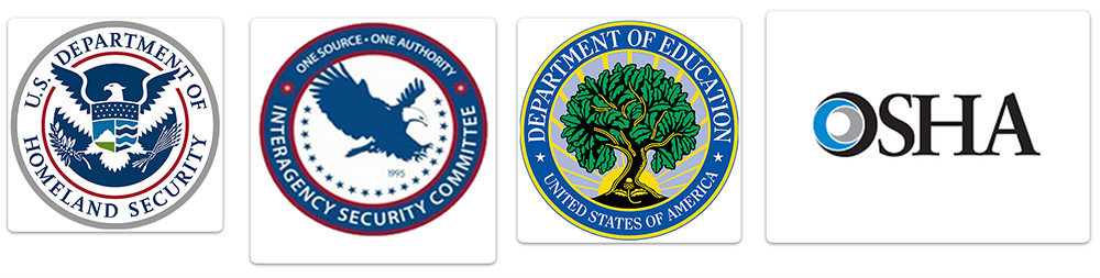 US Dept. of Homeland Security Interagency Security Committee Department of Education OSHA