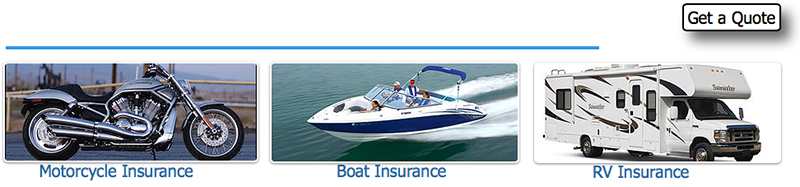 Motorcycle Boat and RV Insurance
